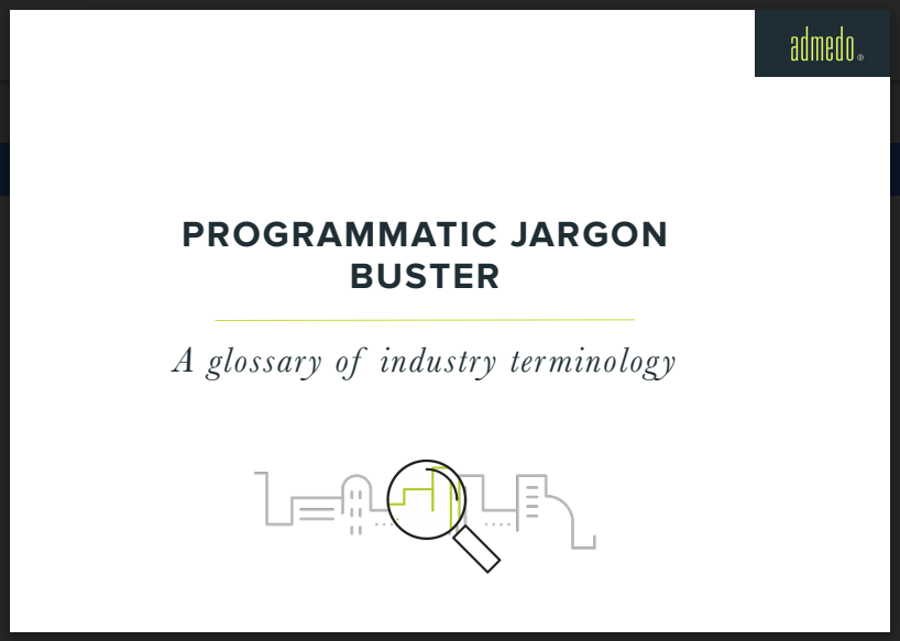 Admedo's Programmatic Jargon Buster